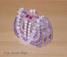 Acryldose Tasche Little Princess 10 x 10 cm groß, 4 cm tief. Design: Flieder, Rosa, Pink  Unikat von Sunshine Design!   Diese wunderschöne ...