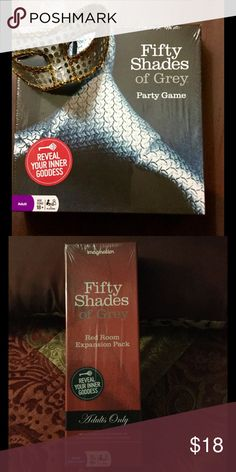 Fifty Shades of Gray party game 18+ Adults Only- Fifty Shades of Gray party game is outrageously fun! the Red Room expansion pack is also included as bundle. Stop rolling your eyes and let your inner Goddess loose! Other