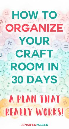 Organized Craft Room CHALLENGE Learn how to transform your mess into an organized craft room with this free challenge filled with tips, tricks, advice, and tutorials! - How to Organize Your Craft Room in 30 Days Craft Room Organisation, Scrapbook Organization, Craft Room Storage, Organization Ideas, Organizing Tips, Craft Room Organizing, Storage Ideas, Craft Storage Solutions, Sewing Room Storage