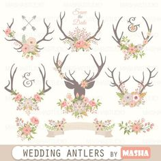 Check out this item in my Etsy shop https://www.etsy.com/listing/262972420/antlers-clipart-wedding-antlers-clipart