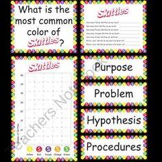 Skittles Science Fair Project product from Kindergarten-Supplies on TeachersNotebook.com