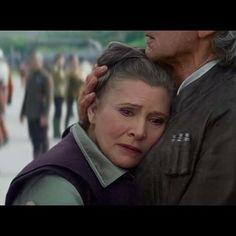 An emotional scene of Han & Leia from the new Force Awakens trailer. #starwars #starwarsdaily #lucasfilm #disney #theforceawakens #princessleia #hansolo by starwarsdaily