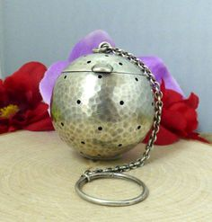 Vintage J.F. Fradley & Co Sterling Silver 'Hammered' Tea Ball Infuser!! #JFFradleyCo