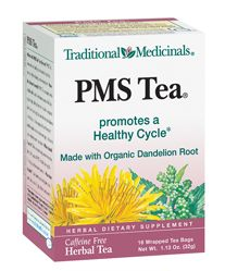 Organic PMS TEA: PMS Tea® promotes a healthy premenstrual cycle by temporarily reducing water retention.* PMS Tea® contains herbs traditionally used to eliminate excess fluid by supporting kidney function,* which is responsible for maintaining fluid and electrolyte balance in the body. It also supports liver function,* which breaks down excess estrogen, a factor in cycle-related water retention.
