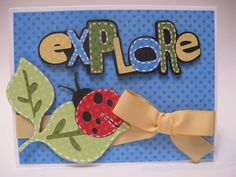 """explore card made using the Cricut Lite """"Live Simply"""" cartridge by Melanie at Everyday Cricut"""