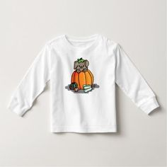 Cute Puppy in a Pumpkin T-shirt -- Halloween - baby gifts child new born gift idea diy cyo special unique design