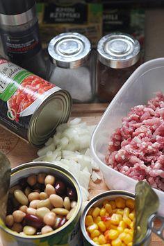 Zupa meksykańska z mięsem mielonym - Damsko-męskie spojrzenie na kuchnię Sausage, Recipies, Menu, Food, Recipes, Menu Board Design, Sausages, Essen, Meals