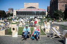 Targ Weglowy in Gdansk - from parking lot to plaza Public Space Design, Public Spaces, Urban Intervention, Beautiful Streets, My Dream Came True, Urban Renewal, Street Furniture, Environmental Design, Urban Planning