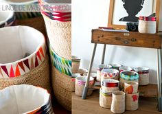 Our basket made in Rwanda and the embroidery border from our workshop. The painting is from Adrian Gomez , Costa Rica