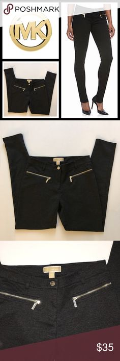 Michael Kors dark grey Skinny Point Pants Color is a dark gray in excellent condition worn twice inseam 27 inches - size 6 MICHAEL Michael Kors Pants Skinny