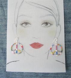 Sterling Silver Peace Earrings #5694