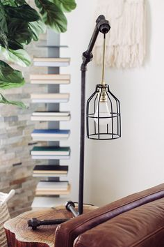 DIY Black Pipe Table Lamp