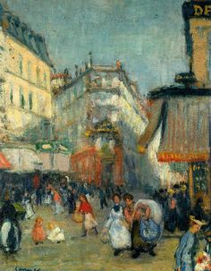 Joaquim Sunyer  calle de Paris