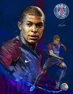 My painting of Kylian Mbappé, young soccer pla yer of the PSG. Best Football Players, Football Is Life, Sport Football, Soccer Players, Football Soccer, College Football, Soccer Pro, Soccer Memes, Soccer Cleats