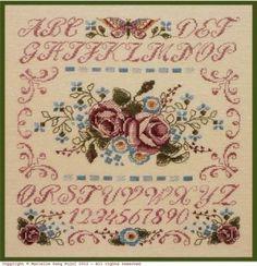 Filigram Rose Sampler cross stitch pattern
