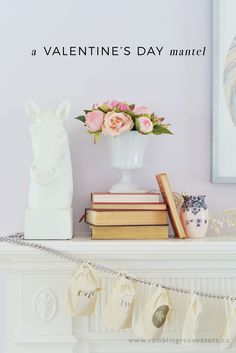 Living Room Tour and Valentine's Day Mantel