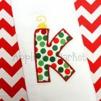 Ornament Applique Alphabet