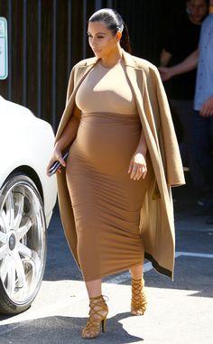 Caramel Corn from Kim Kardashian's Pregnancy Style | E! Online
