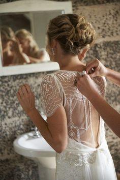 NOW REDUCED Once Worn Jenny Packham Eden Ivory Wedding Dress UK 8/10 US 4/6