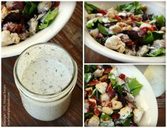 Homemade Ranch Dressing, dairy free. I like to add a little sauerkraut brine for a delicious probiotic dressing.