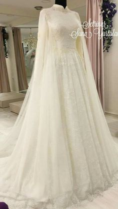 Wedding dress - Hijab Clothing - New Ideas Muslimah Wedding Dress, Muslim Wedding Dresses, Western Wedding Dresses, Affordable Wedding Dresses, Dream Wedding Dresses, Bridal Dresses, Hijab Bride, Malay Wedding Dress, Wedding Hijab Styles
