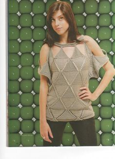 "Knitting - Free Pattern: ""Sexy sweater"" -  Level: intermediate."