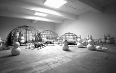 "Artist Dennis Oppenheim""s Snowman Factory  http://www.dennis-oppenheim.com/works/209"