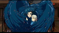 This is a custom for an online request we received of Howl and Sophie from Howl's Moving Castle. Commission: Howl's Moving Castle Wings Mock-up Howl's Moving Castle Movie, Howl's Moving Castle Tattoo, Howls Moving Castle, Film Animation Japonais, Animation Film, Hayao Miyazaki, Totoro, Howl Et Sophie, Manga