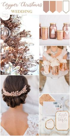 copper christmas wedding