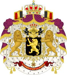 Coat of Arms of the King of the Belgians (1921).svg