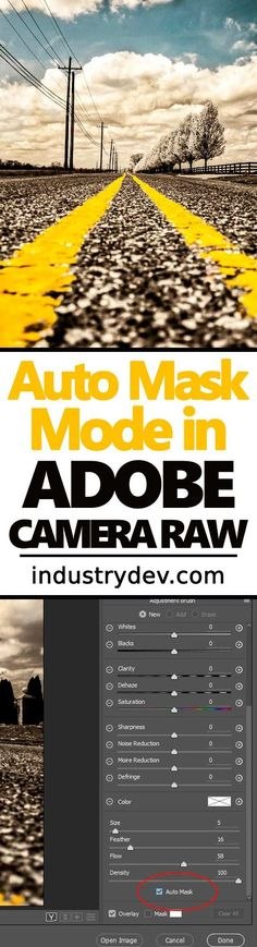 """How to Use the Auto Mask Feature in Adobe Camera Raw: Attempting to isolate an area of a photograph to edit with the Adjustment Brush in Adobe Camera Raw is a challenging ordeal. Luckily, we have the Auto Mask feature that can help immensely. All that needs to be done is to click on small check box and to start painting just as you normally would. In Auto Masking mode, the paint """"clings"""" to areas with a distinct edge, sort of like the Magnetic Lasso Tool in Adobe Photoshop."""