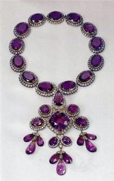 Princess Maria-Gabriella's Amethyst Necklace Petochi