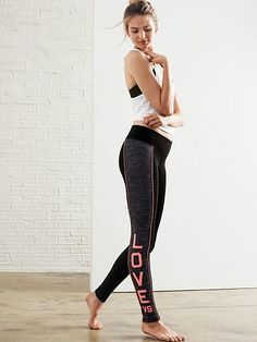 Victorias Secret The Everywhere Contrast Legging Pants For Women, Clothes For Women, Athleisure Fashion, Yoga Tops, Athletic Fashion, Workout Wear, Leggings Fashion, Workout Leggings, Fitness Fashion