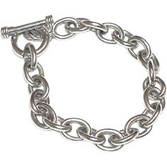 Sterling Silver Toggle Bracelet, Mexico 925, Unisex