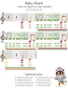 """Baby Shark"" Music Lesson - Free Video + Sheet Music - Prodigies Music - Curriculum for Kids Preschool Music, Music Activities, Teaching Music, Learning Piano, Leadership Activities, Group Activities, Music For Toddlers, Music Lessons For Kids, Piano Lessons"