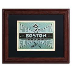 'Boston' by Anderson Design Group Framed Vintage Advertisement