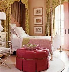 green in a girls bedroom