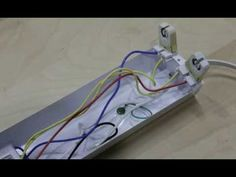 StarLED / Ballast Bypass Instruction for LED Bi. This is the StarLED LED ballast bypass video. Its purpose is to show you, step-by-step, how to Led Garage Lights, Led Shop Lights, Garage Lighting, Strip Lighting, Home Electrical Wiring, Electrical Projects, Diy Studio Lighting, Wood Repair, Led Fluorescent