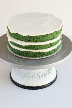 Green Velvet Cake w/ jameson irish whiskey