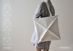 9 omni bag by kumeko Multipurpose Foldable Bags Inspired by Origami