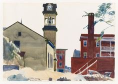 Whitney Museum of American Art: Edward Hopper: (Bell Tower) American Realism, American Artists, Edouard Hopper, Gloucester House, Edward Hopper Paintings, Ashcan School, Francis Picabia, Joseph Mallord William Turner, Whitney Museum