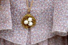 Sincerely, Kinsey: Bird Nest Necklace   DIY