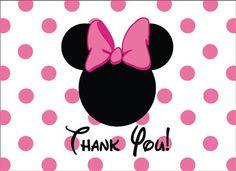 mickey minnie mouse thank you card digital file diy mickey