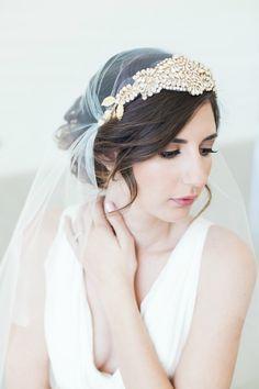 Swarovski Crystal Juliet Cap Veil In Your Custom Length and Color