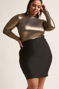 $25 FOREVER 21+ Plus Size Bodycon Skirt #plussize #fashionaddict #trends #fashion #trendsetter #affilatelink