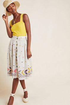 Manalie Midi Skirt | Anthropologie