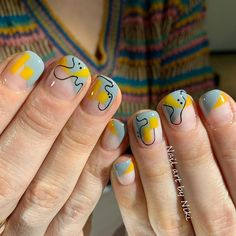 36 Summer Nail Designs For 2019 Beautiful Nail Designs, Cute Nail Designs, Cute Nails, Pretty Nails, Gel Nails At Home, Manicure Y Pedicure, Instagram Nails, Nagel Gel, Nailart