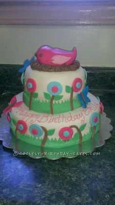 Coolest Spring Birthday Cake... This website is the Pinterest of birthday cake ideas