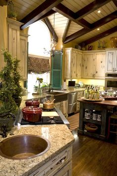 Wishes this could be my kitchen RIGHT NOW! Love the color in this, everything about it!