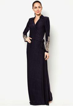 Jubah Collared Wrap Dress